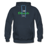 I am enthusiastic mens hoodie - navy