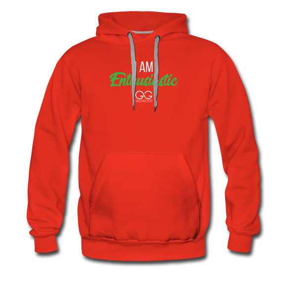 I am enthusiastic mens hoodie - red
