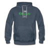 I am enthusiastic mens hoodie - heather denim