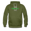 I am enthusiastic mens hoodie - olive green