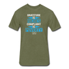Gratitude is Riches Complaint is Poverty Next Level Mens t-shirt - heather military green