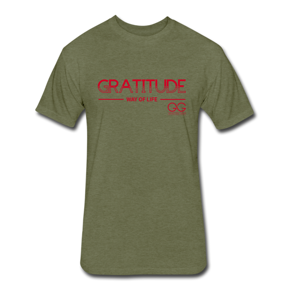 Gratitude Way of Life - Next Level - heather military green