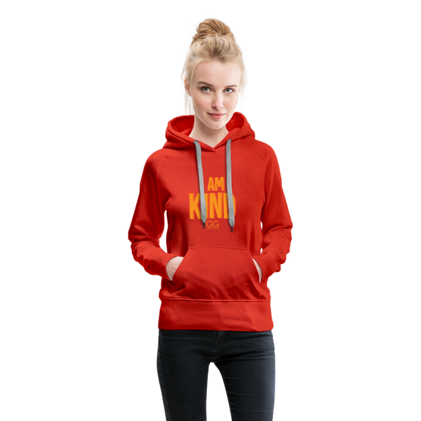 I AM KIND  Women's Premium Hoodie - red