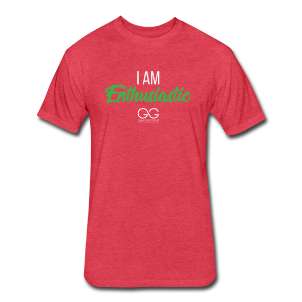 I Am Enthusiastic mens t-shirt - heather red