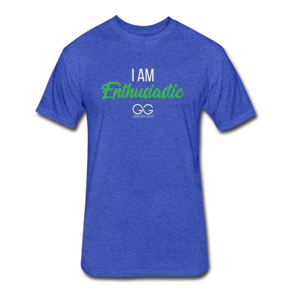 I Am Enthusiastic mens t-shirt - heather royal