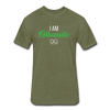 I Am Enthusiastic mens t-shirt - heather military green