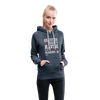 Gratitude is the Secret Women's Premium Hoodie - heather denim