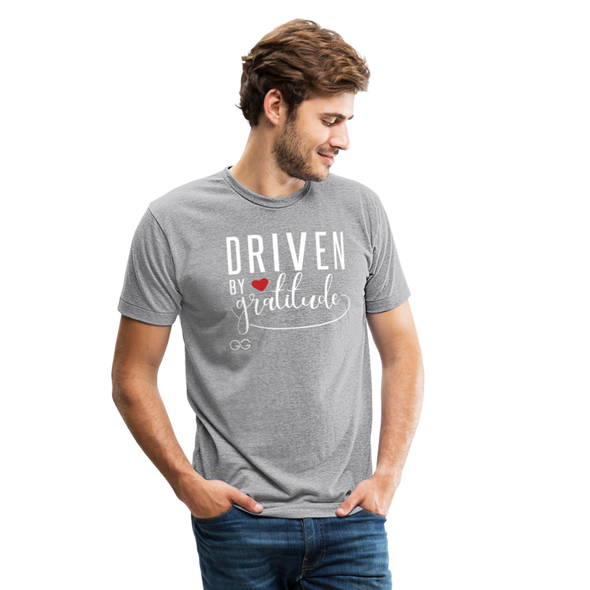 Driven by Gratitude Bella Mens t-shirt - heather gray