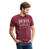 Driven by Gratitude Bella Mens t-shirt - heather cranberry