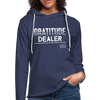 Gratitude Dealer Unisex Lightweight Terry Hoodie - heather navy