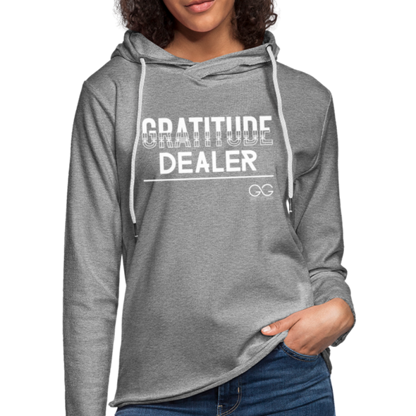 Gratitude Dealer Unisex Lightweight Terry Hoodie - heather gray