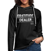 Gratitude Dealer Unisex Lightweight Terry Hoodie - charcoal gray
