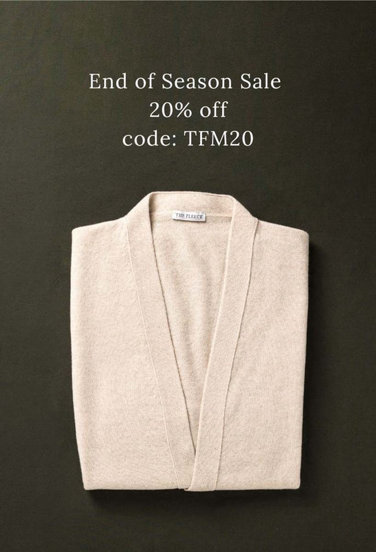 Men's Cashmere Sleeveless Cardigan The Fleece Milano Sale