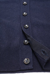 Navy-Blue-Cashmere-Sleeveless-Cardigan-The-Fleece-Milano-gros-grain