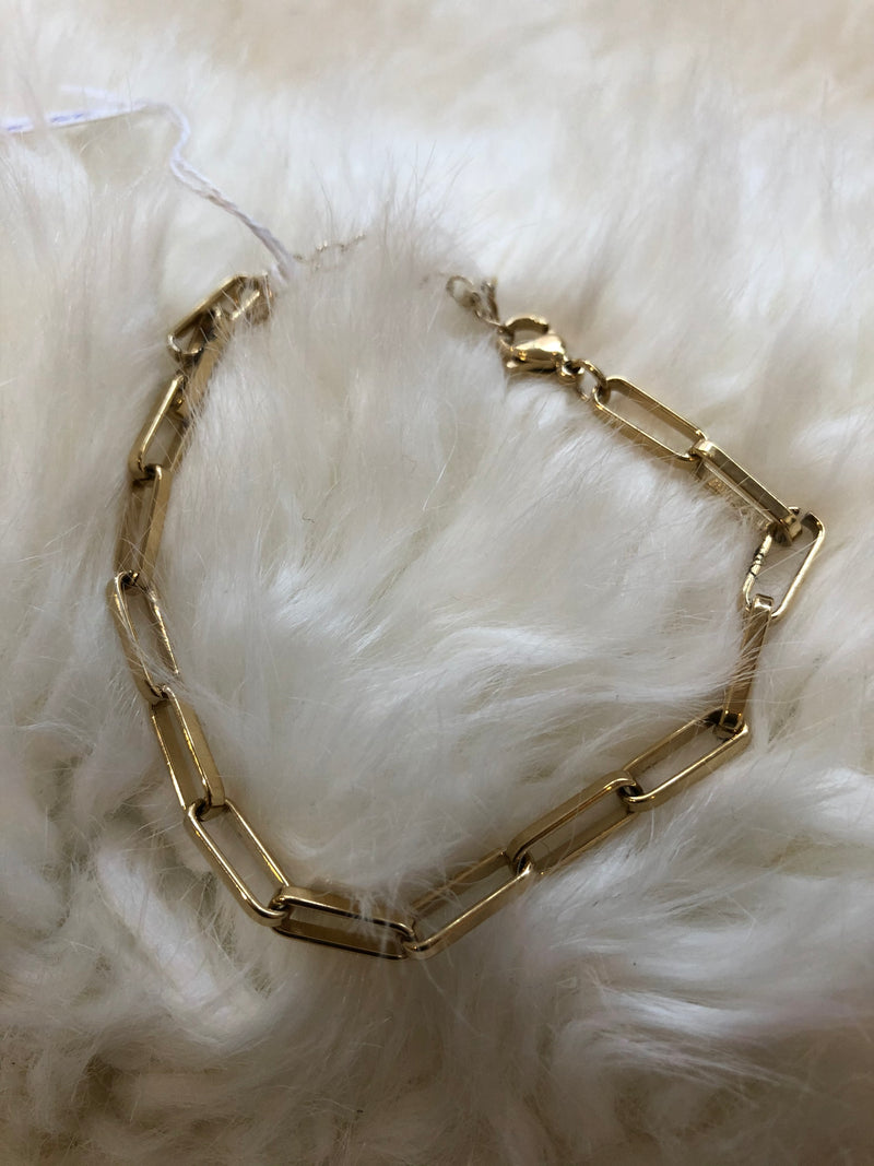 Armband staal/goud
