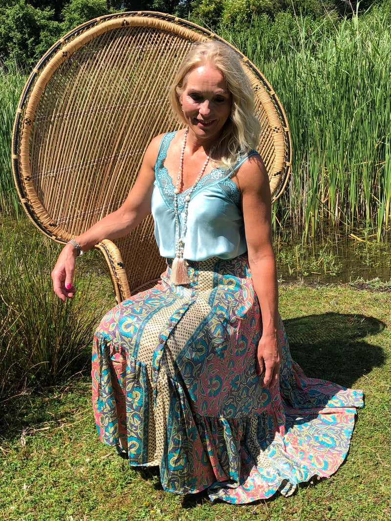Ibiza Rok Boho 100% zijde, Multi color