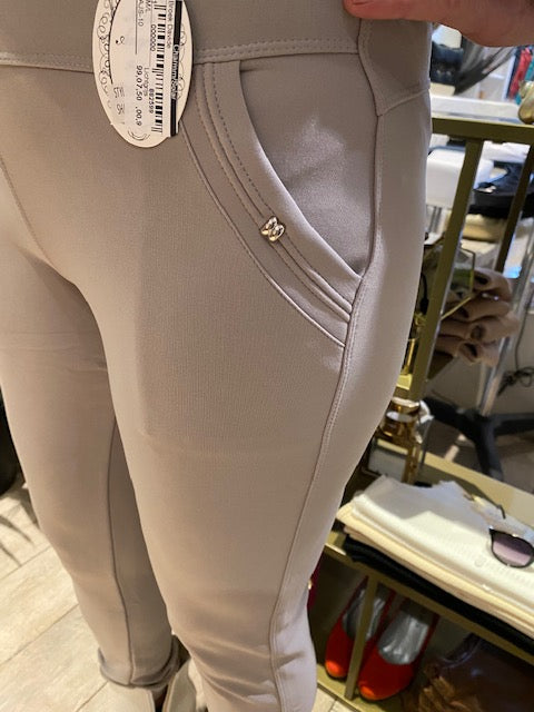 Stretch broek, taupe