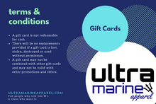 Load image into Gallery viewer, Ultramarine Apparel Gift Card Terms & Conditions