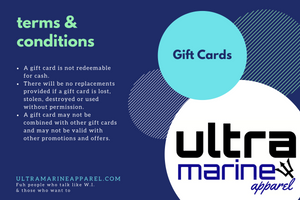 Ultramarine Apparel Gift Card Terms & Conditions