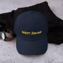 "Load image into Gallery viewer, ""West Indian"" Dad Hat (Yellow Text) - ULTRAmarine"