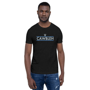 """Cawbleh"" Short-Sleeve Unisex T-Shirt (Blue Stripes) - ULTRAmarine"