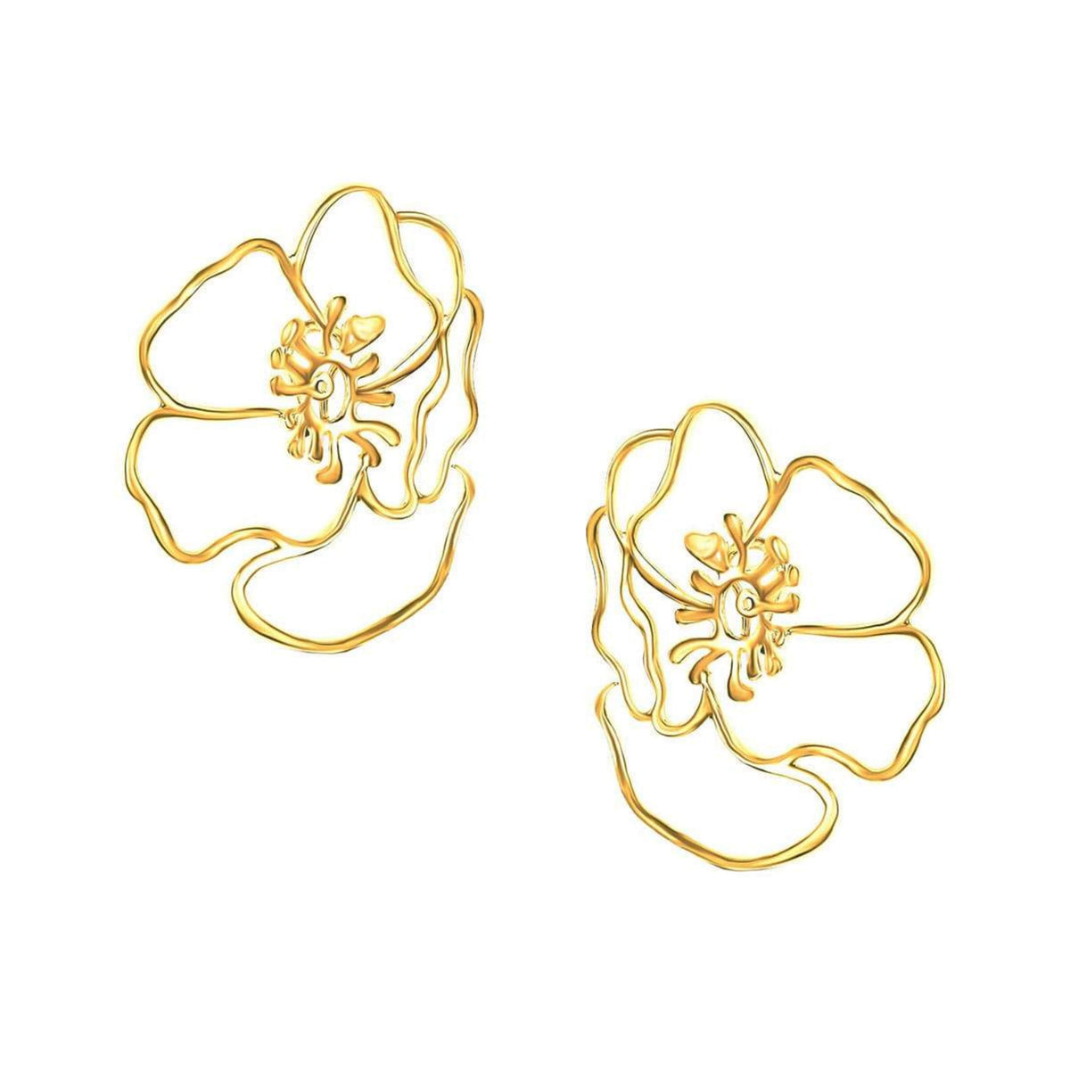 Gold Anemone Earring