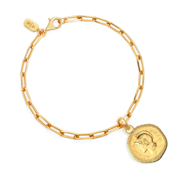 Shop our best-selling Athena Goddess coin bracelet, perfect everyday staple. Jewellery that lasts forever, designed in London.