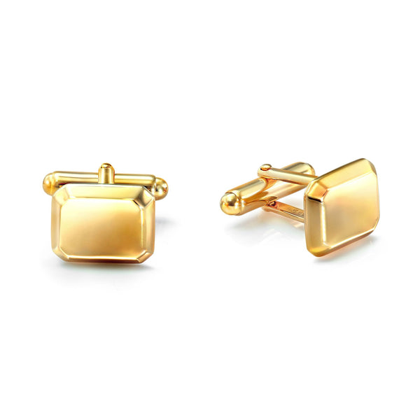 Emerald Cufflink Yellow Gold