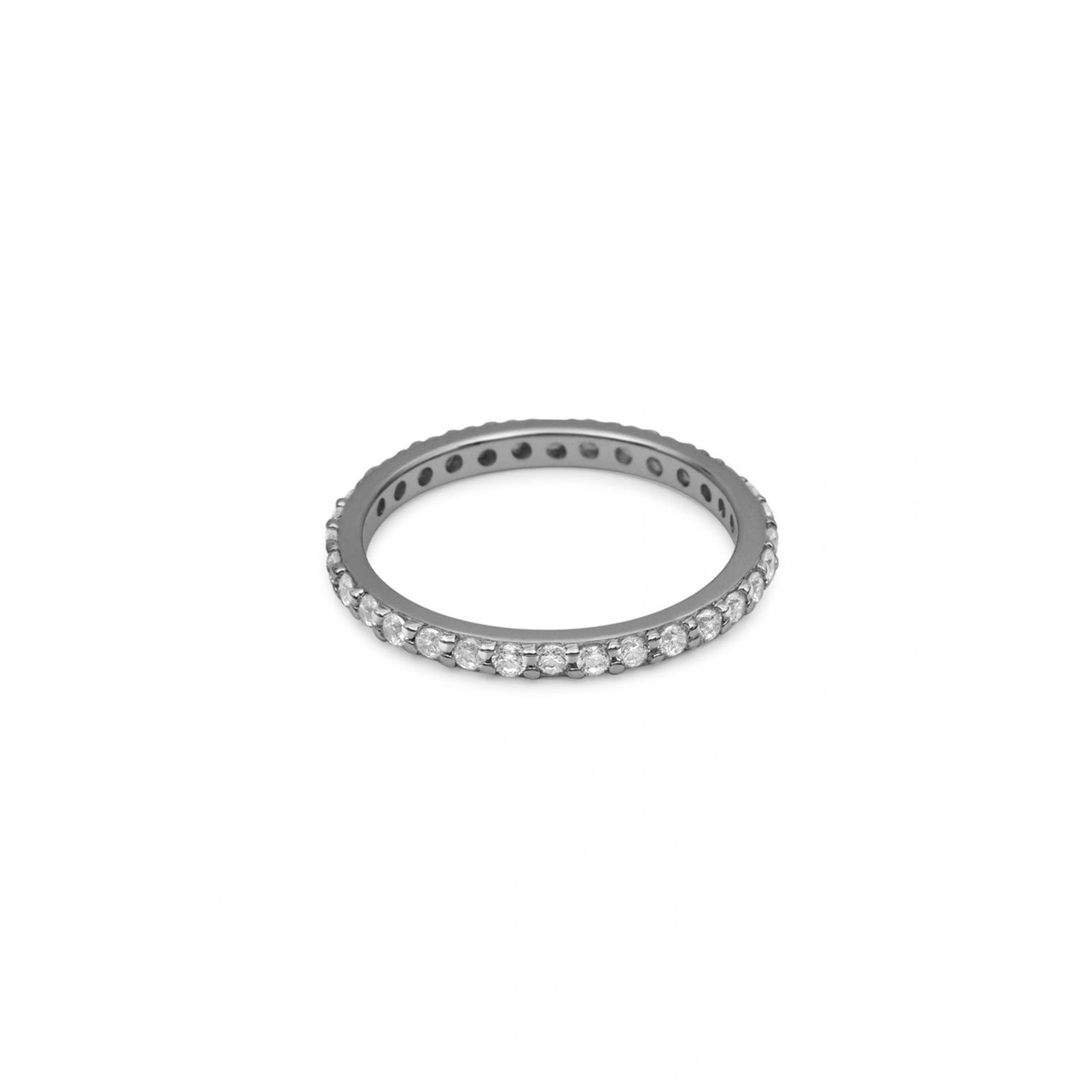 Eternity Ring Black Rhodium with White Pave