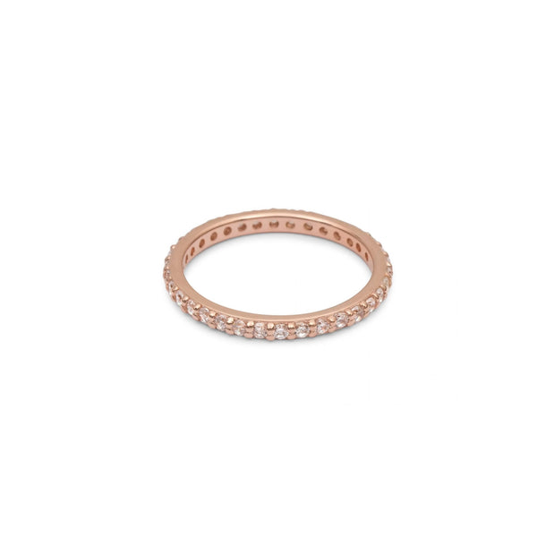 Eternity Ring Rose Gold with White Pave