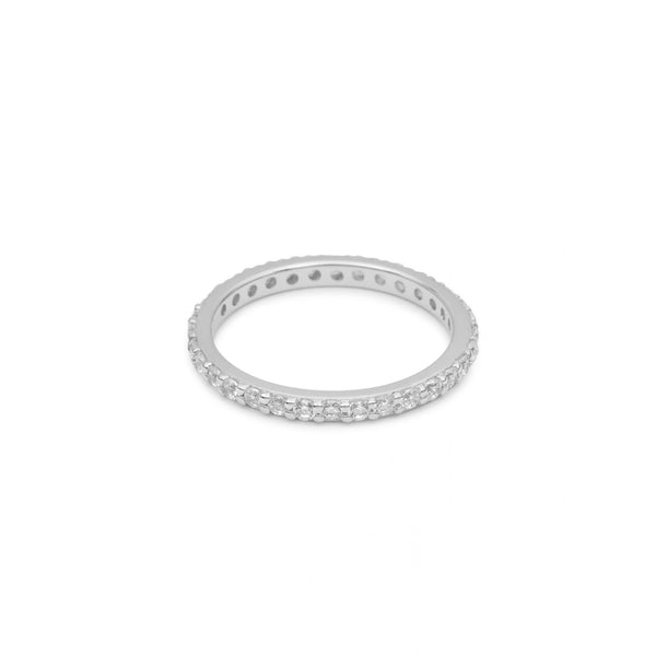 Eternity Ring Silver with White Pave