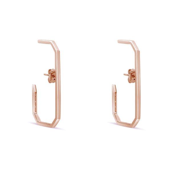 The Lara L Earrings Rose Gold