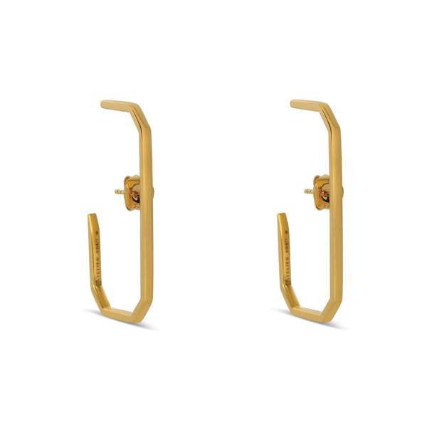 The Lara L Earrings Yellow Gold