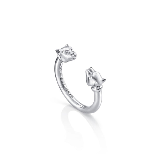 Open Leopard Ring Silver