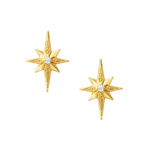 Mini Gold Star Stud Earrings