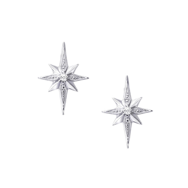 Mini Silver Star Stud Earrings