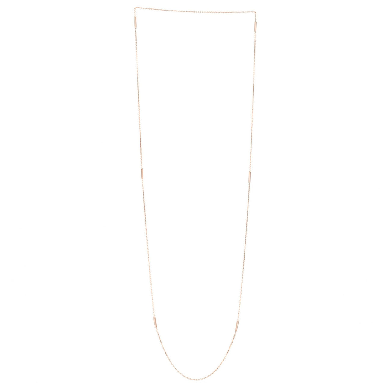 Long Multi Chain Necklace Yellow Gold
