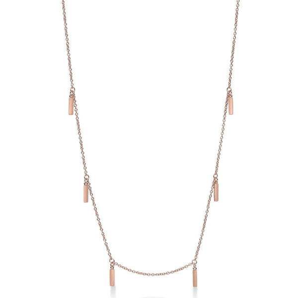 Multi Line Necklace Rose Gold