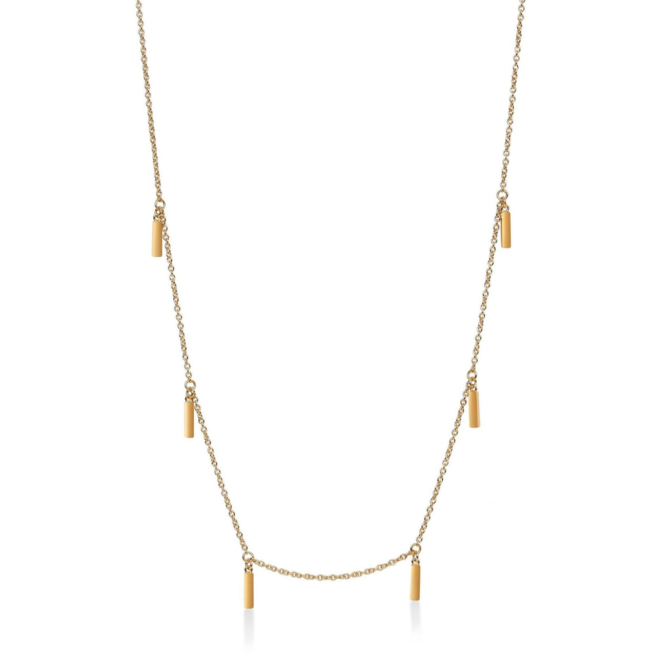 Multi Line Necklace Yellow Gold
