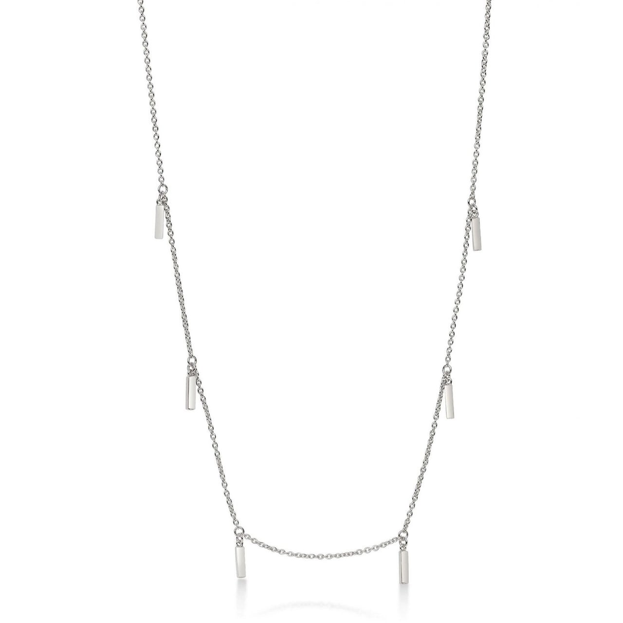 Multi Line Necklace Silver