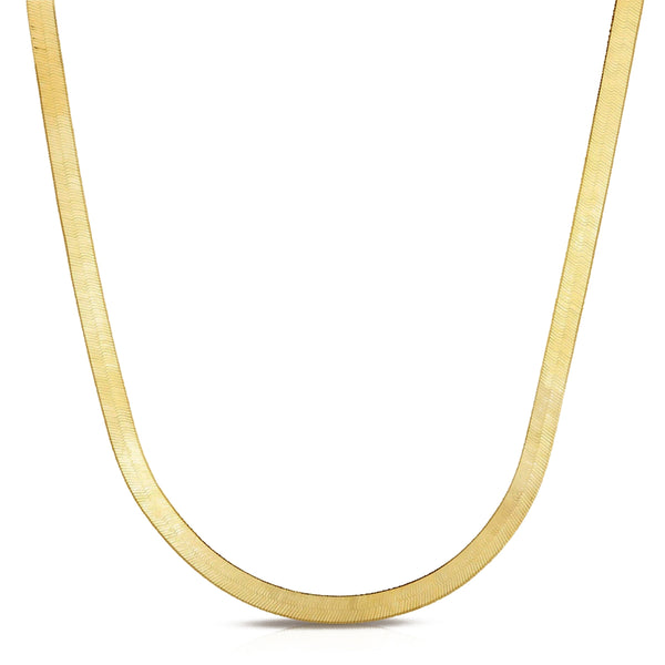 Snake Herringbone Chain Necklace