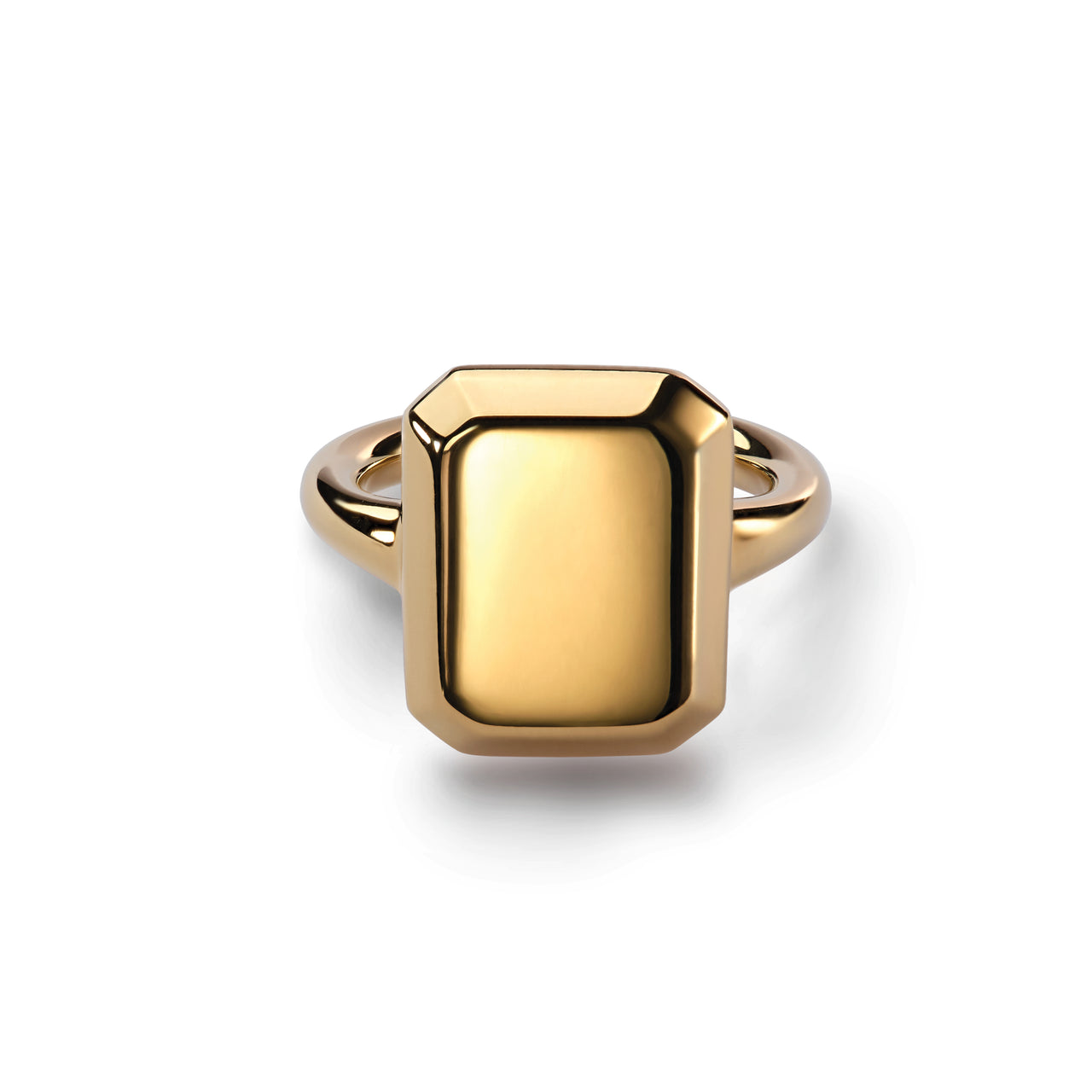 Emerald Signet Ring Yellow Gold