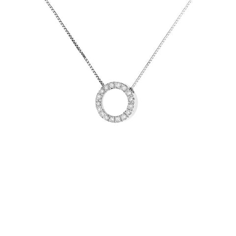 collier or blanc cercle diamant