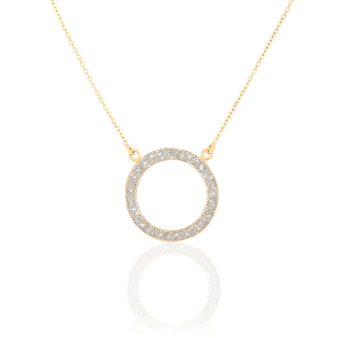collier or jaune cercle
