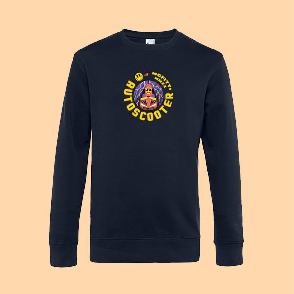 "MC FITTI SWEATSHIRT <br>""AUTOSCOOTER"" , Navy"