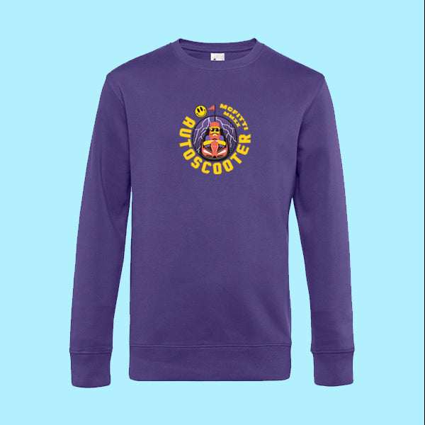 "MC FITTI SWEATSHIRT <br>""AUTOSCOOTER"" , Violett"