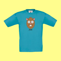 "MC FITTI T-SHIRT <br>""HAMSTER"" KIDS , Türkis"