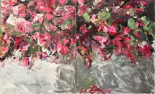 Load image into Gallery viewer, Cascading Roses - original Diptych 60x96