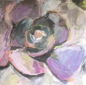 Karen's Succulents - 36x36 acrylic on gallery wrapped canvas - unframed