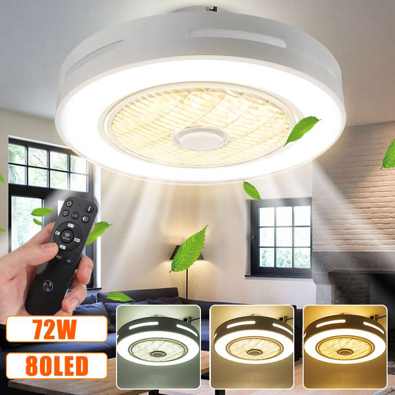 Modern Trendy Led Ceiling Fans Lights 72w Ceiling Lights With 3 Colors Lights Fascinate